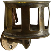 Rejuvenation Tarnished Brass Cup Holder c1920s