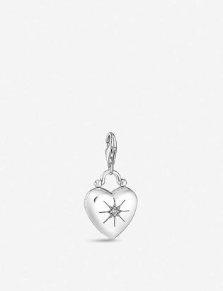 Thomas Sabo Heart Locket sterling silver and zirconia charm