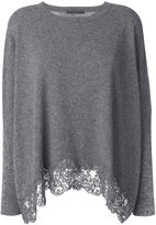 Ermanno Scervino lace trim sweater - women - Cashmere/Virgin Wool - 38
