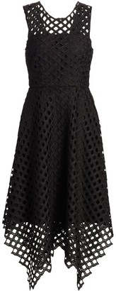 Milly Lattice Laser Cut Dress