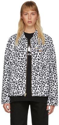Noon Goons Black and White Denim Leopard Jacket