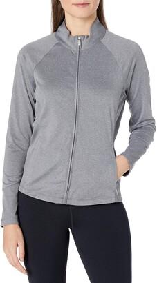 Cutter & Buck Women's Heathered Cb Drytec Long Sleeve Sabrina Full-Zip