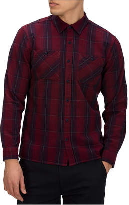 Hurley Men Hendrick Classic-Fit Plaid Flannel Shirt