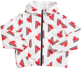 DSQUARED2 Logo Print Nylon Jacket