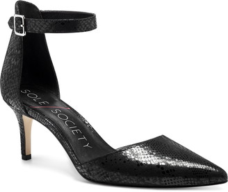 Sole Society Dalema Ankle Strap Pointed Toe Pump