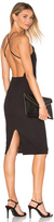 Donna Mizani Square Neck Midi Dress