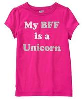 Crazy 8 My BFF is a Unicorn Tee