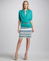 M Missoni Pucker Wave Stripe Skirt
