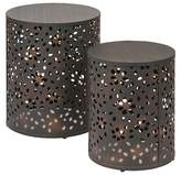 Office Star 2 Piece Middleton Round Accent Table Set