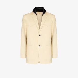 Jil Sander Contrast Collar Wool Blazer