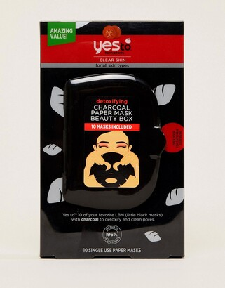 Yes To Yes to Tomatoes Detoxifying Charcoal Paper Mask Beauty Box-No Colour