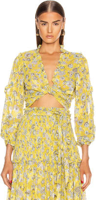Alexis Odilo Top in Citron Floral | FWRD