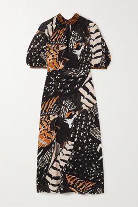Temperley London Rosella Printed Crepe Midi Dress