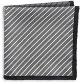 Black Brown 1826 Silk Mixed Stripe Pocket Square