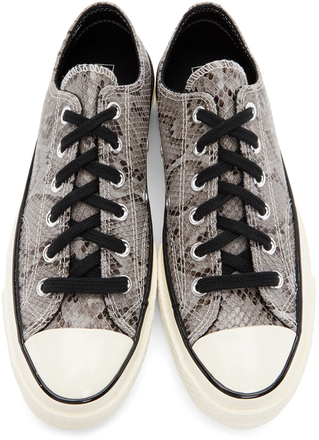 Thumbnail for your product : Converse Grey Snake Chuck 70 Ox Low Sneakers