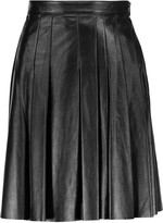 Belstaff Luxton pleated leather mini skirt