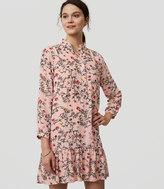 LOFT Gardenia Flounce Dress