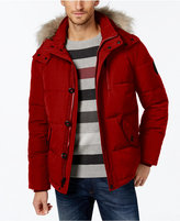 Calvin Klein Men's Faux-Fur-Lined Hooded Coat