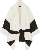 Rag & Bone Britton Striped Merino Wool-blend Cape - Off-white