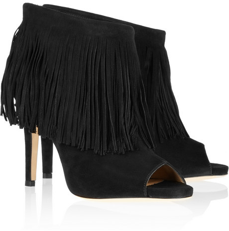Jimmy Choo Daxen fringed suede ankle boots