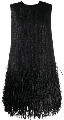 MSGM Fringe-Trimmed Mini Dress