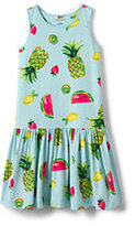 Classic Girls Plus Sleeveless Drop Waist Knit Tank Dress-Star Print