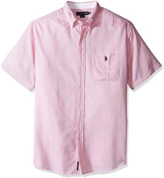 U.S. Polo Assn. Men's Tall Big & Tall Classic Fit Single Pocket Stripe Plaid or Print Sport Shirt