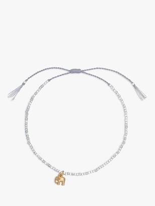 Estella Bartlett Louise Elephant Charm Bracelet, Silver/Gold