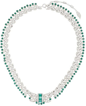 Susan Caplan Vintage 1950s Embellished Chain-Link Necklace