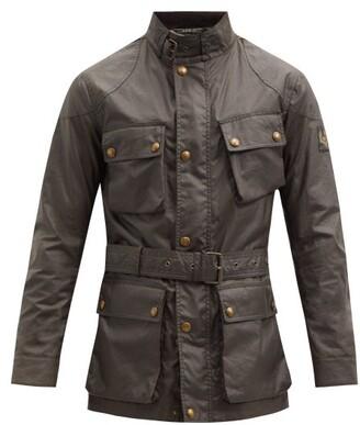 Belstaff Belted Cotton Jacket - Dark Green