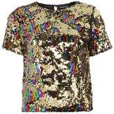 Dorothy Perkins Multi Coloured Sequin Top
