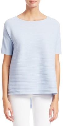 Saks Fifth Avenue Textured Short Sleeve Pullover