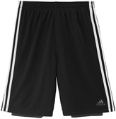 adidas Black & Dark Gray 2-in-1 Shorts - Tween