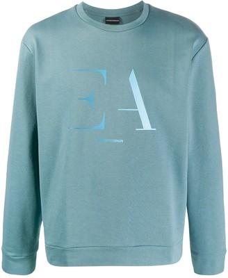 Emporio Armani Crew Neck Logo Print Sweater