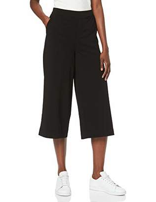 Object Women's Objcecilie Culotte Pant Noos Trouser, Black, (Size: 34)