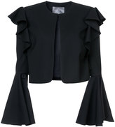 Monique Lhuillier cropped bell sleeved jacket