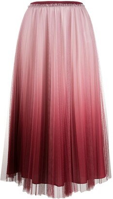RED Valentino pleated tulle midi-skirt
