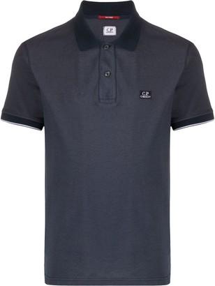 C.P. Company Logo-Embroidered Polo Shirt