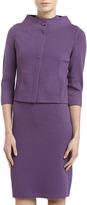 St. John Santana Knit Mock-Neck Dress, Plum