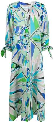 Emilio Pucci Geometric Print Beach Dress