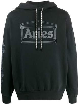 Aries loose-fit logo hoodie
