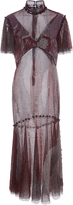 Prabal Gurung Crystal Mesh Flounce Dress