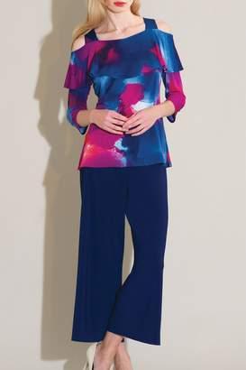 Clara Sunwoo Fuchsia Watercolor Ruffle