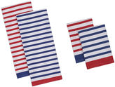 DESIGN IMPORTS Design Imports Nautical Stripe Set of 4 Kitchen Towels and Dishcloths