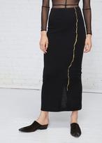 Haider Ackermann Black Gold Embroidery Skirt