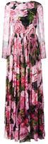 Dolce & Gabbana rose print gown - women - Silk/Cotton/Polyamide/Spandex/Elastane - 40