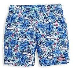 Vineyard Vines Little Boy's & Boys Yacht Print Swim Shorts