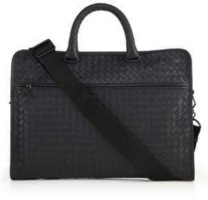 Bottega Veneta Leggeron Intrecciato Leather Briefcase
