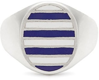Jessica Biales - Enamel & Sterling-silver Ring - Blue