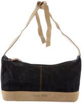 Miu Miu Denim & Suede Shoulder Bag